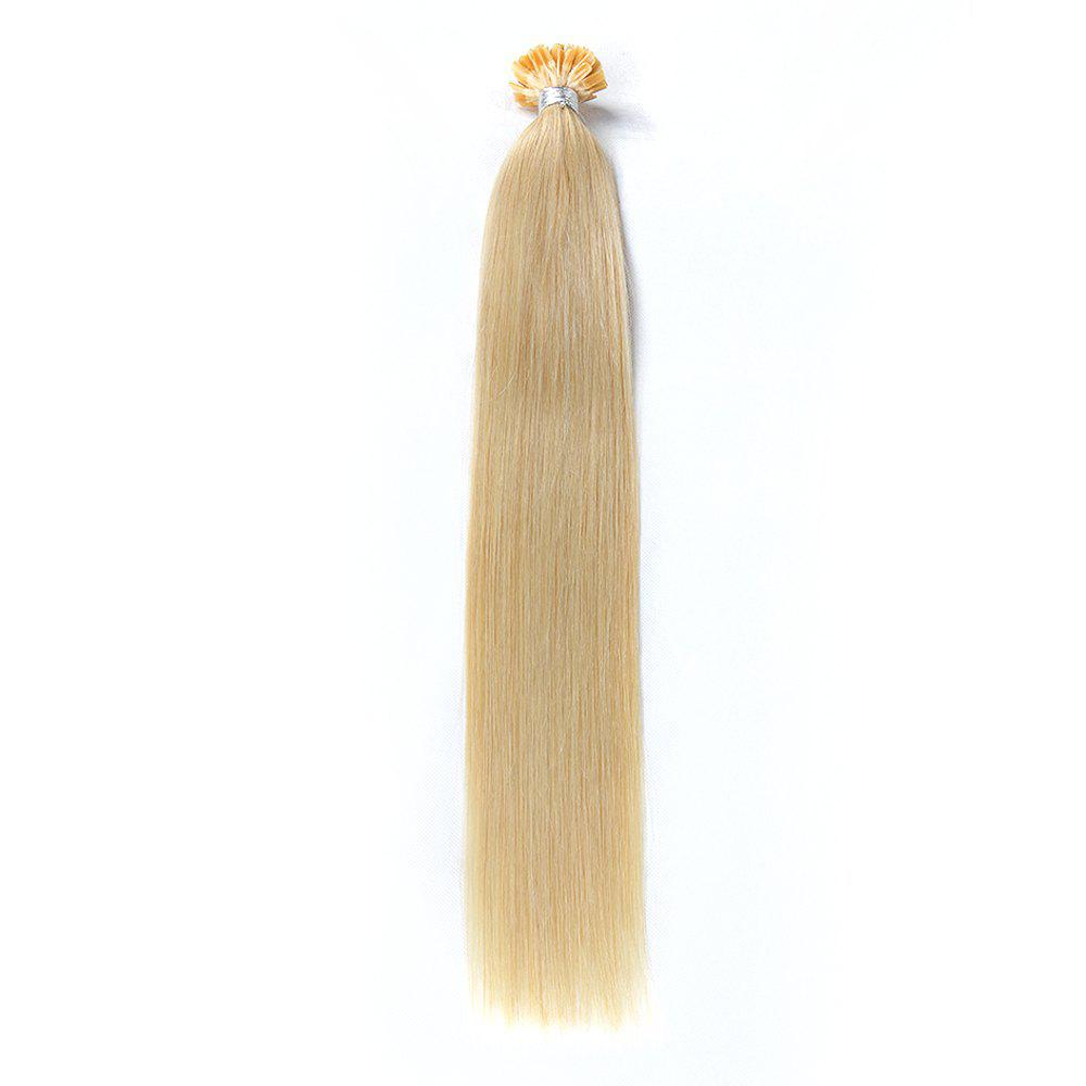 Light colors Straight U Tip Hair Extensions Remy Hair in fusion hair Extensions 100pcs/pack -  16INCH