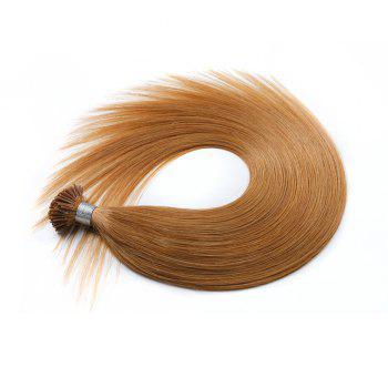 M.Light Colors Straight I Tip Hair Extensions Remy Hair in Fusion Hair Extensions 200pcs/pack - 27#