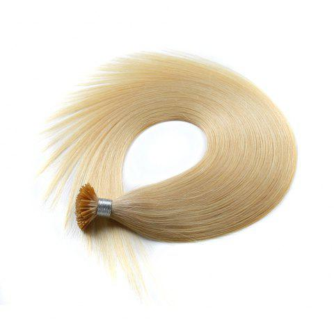 Light colors Straight I Tip Hair Extensions Remy Hair in fusion hair Extensions 200pcs/pack - 613 16INCH