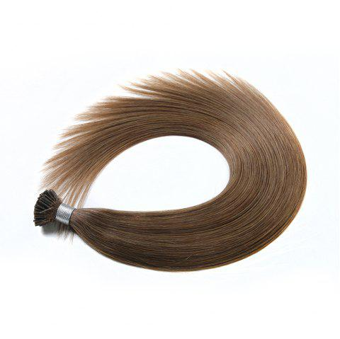 Light colors Straight I Tip Hair Extensions Remy Hair in fusion hair Extensions 200pcs/pack - 10 24INCH
