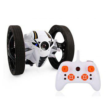 2.4GHz Remote High Jump Car Rotate 360 Degrees with LED and Music Gift - WHITE WHITE