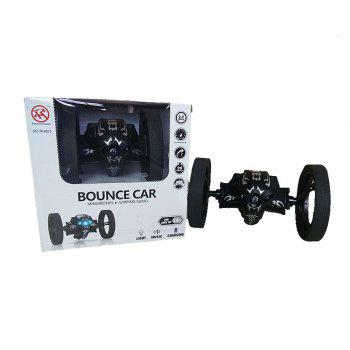 2.4GHz Remote High Jump Car Rotate 360 Degrees with LED and Music Gift - BLACK BLACK