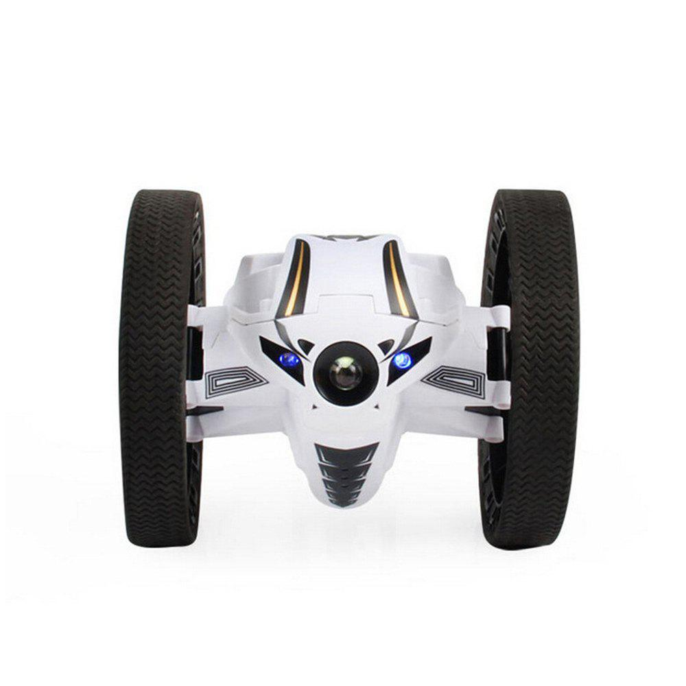 2.4GHz Remote High Jump Car Rotate 360 Degrees with LED and Music Gift - WHITE