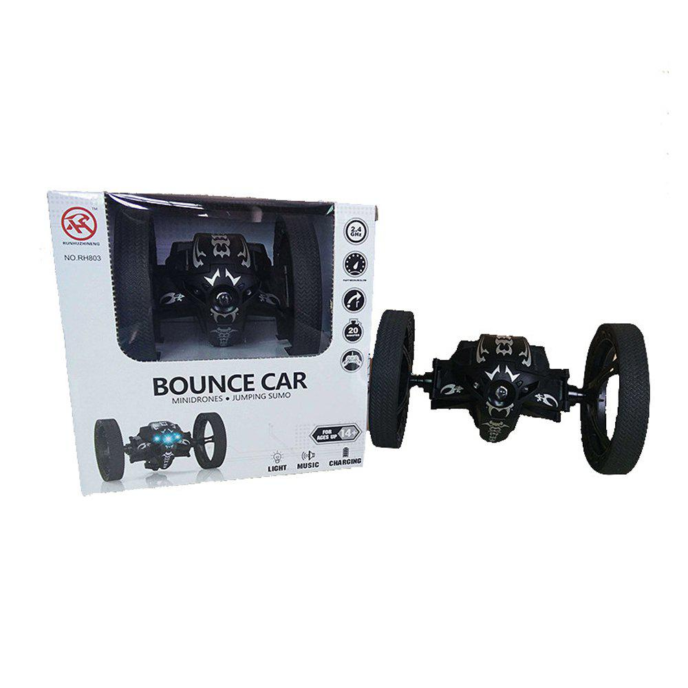 2.4GHz Remote High Jump Car Rotate 360 Degrees with LED and Music Gift - BLACK
