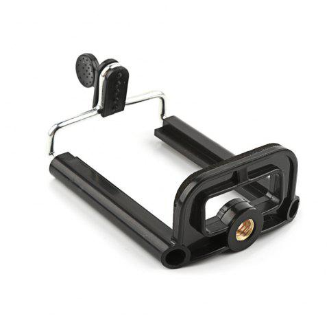 Tripod Stand with 1/4 inch Nut Screw Hole Selfie Stick for Phone Clip Camera Accessories - BLACK