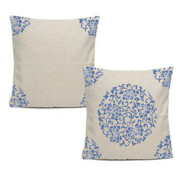 Chinese Style Blue And White Pattern Home Decoration Pillow Covers - BEIGE 16INCH X 16INCH