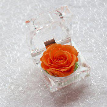 Handmade Preserved Fresh Rose Upscale Immortal Flowers Gifts for Mother Day Valentine Day Wedding - ORANGE