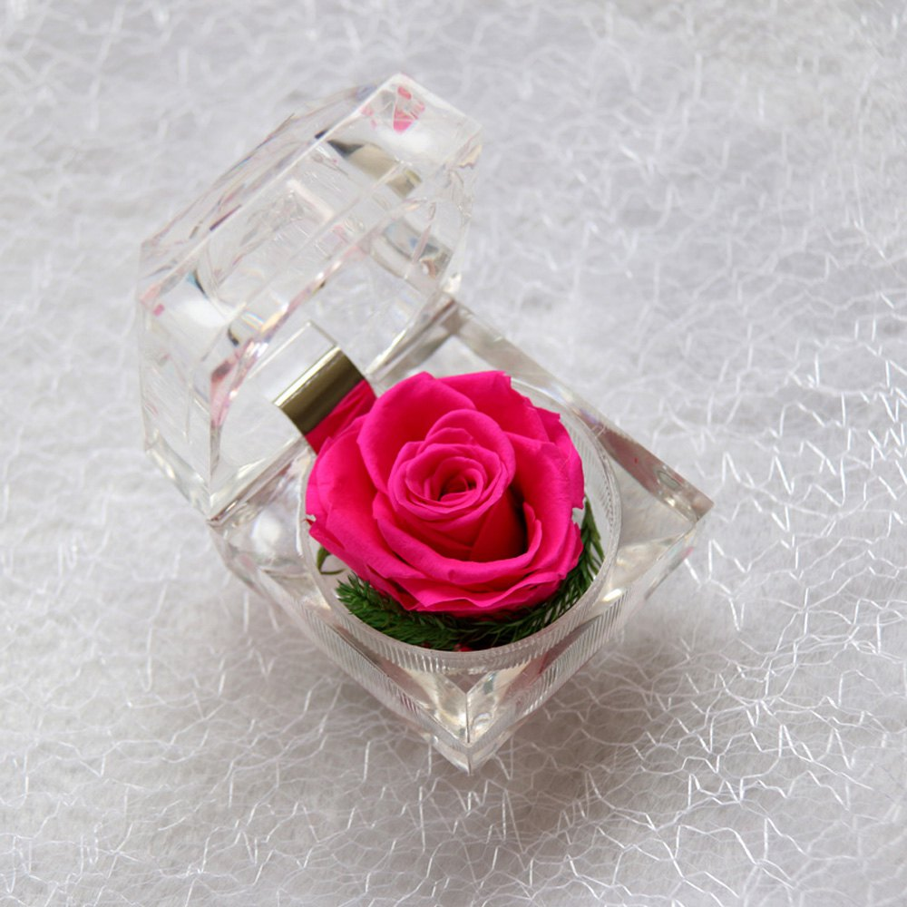 Handmade Preserved Fresh Rose Upscale Immortal Flowers Gifts for Mother Day Valentine Day Wedding - ROSE RED