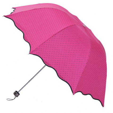 En-toutcas Folded UV Protection Sun or Rain Umbrella - ROSE RED