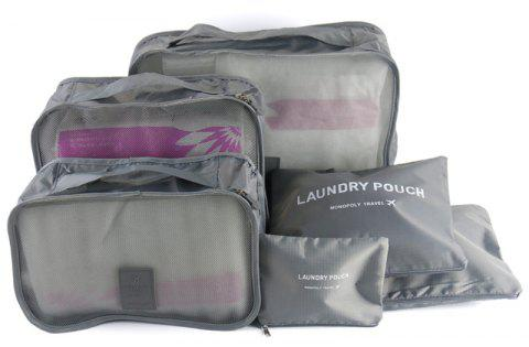 Waterproof Travel Storage Bags for Clothes and Underwear and Shoes 6pcs - GRAY