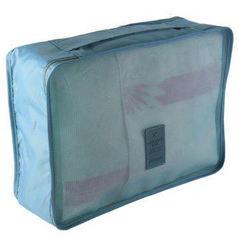 Waterproof Travel Storage Bags for Clothes and Underwear and Shoes 6pcs - LIGHT BLUE