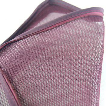 Waterproof Travel Storage Bags for Clothes and Underwear and Shoes 6pcs - WINE RED
