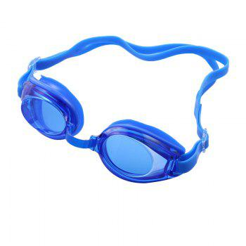 Swimming Goggles Mirror Coated Lenses Anti Fog Shatterproof UV Protection Swimming Glasses - BLUE BLUE