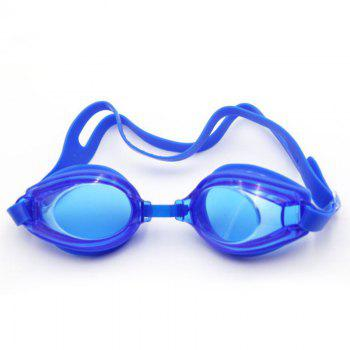 Swimming Goggles Mirror Coated Lenses Anti Fog Shatterproof UV Protection Swimming Glasses -  BLUE