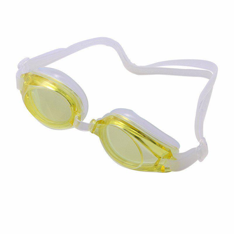 Swimming Goggles Mirror Coated Lenses Anti Fog Shatterproof UV Protection Swimming Glasses - YELLOW