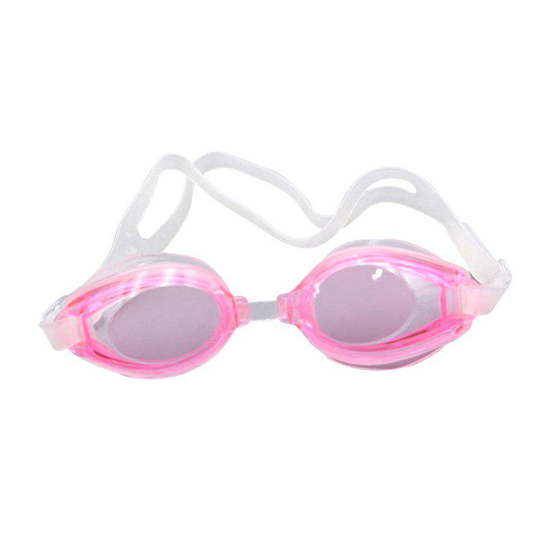 Swimming Goggles Mirror Coated Lenses Anti Fog Shatterproof UV Protection Swimming Glasses - PINK