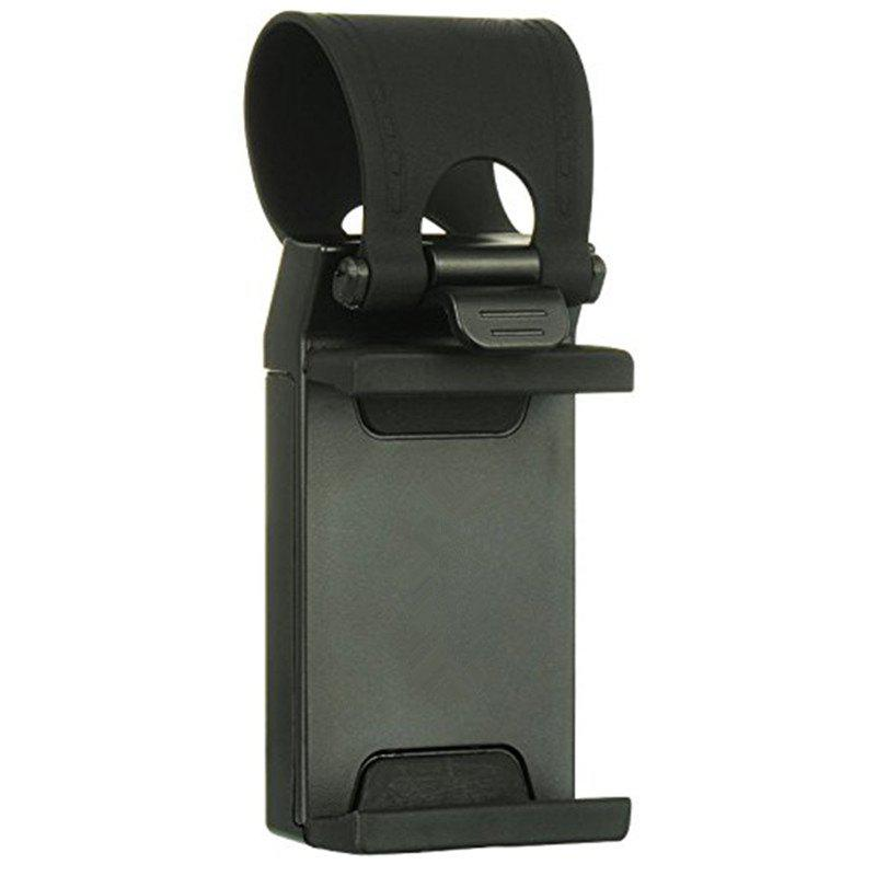 Car Steering Wheel Mount Holder For Most Phones  and Tablet MP4 GPS - BLACK