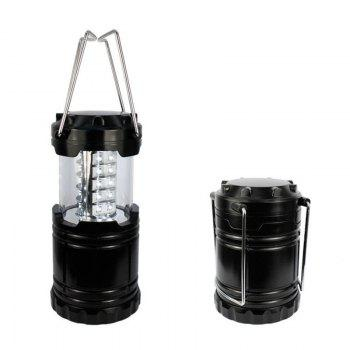 Portable Outdoor Battery Powered Camping Lantern Survival Kit for Emergency Hurricane Storm Power Outage  Camping - BLACK