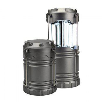 Portable Outdoor Battery Powered Camping Lantern Survival Kit for Emergency Hurricane Storm Power Outage  Camping - GRAY