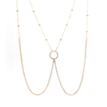 Europe and the United States fashion new diamond sexy body chain - GOLDEN GOLDEN