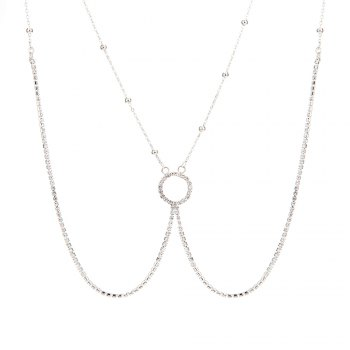 Europe and the United States fashion new diamond sexy body chain - SILVER SILVER