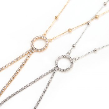 Europe and the United States fashion new diamond sexy body chain -  SILVER