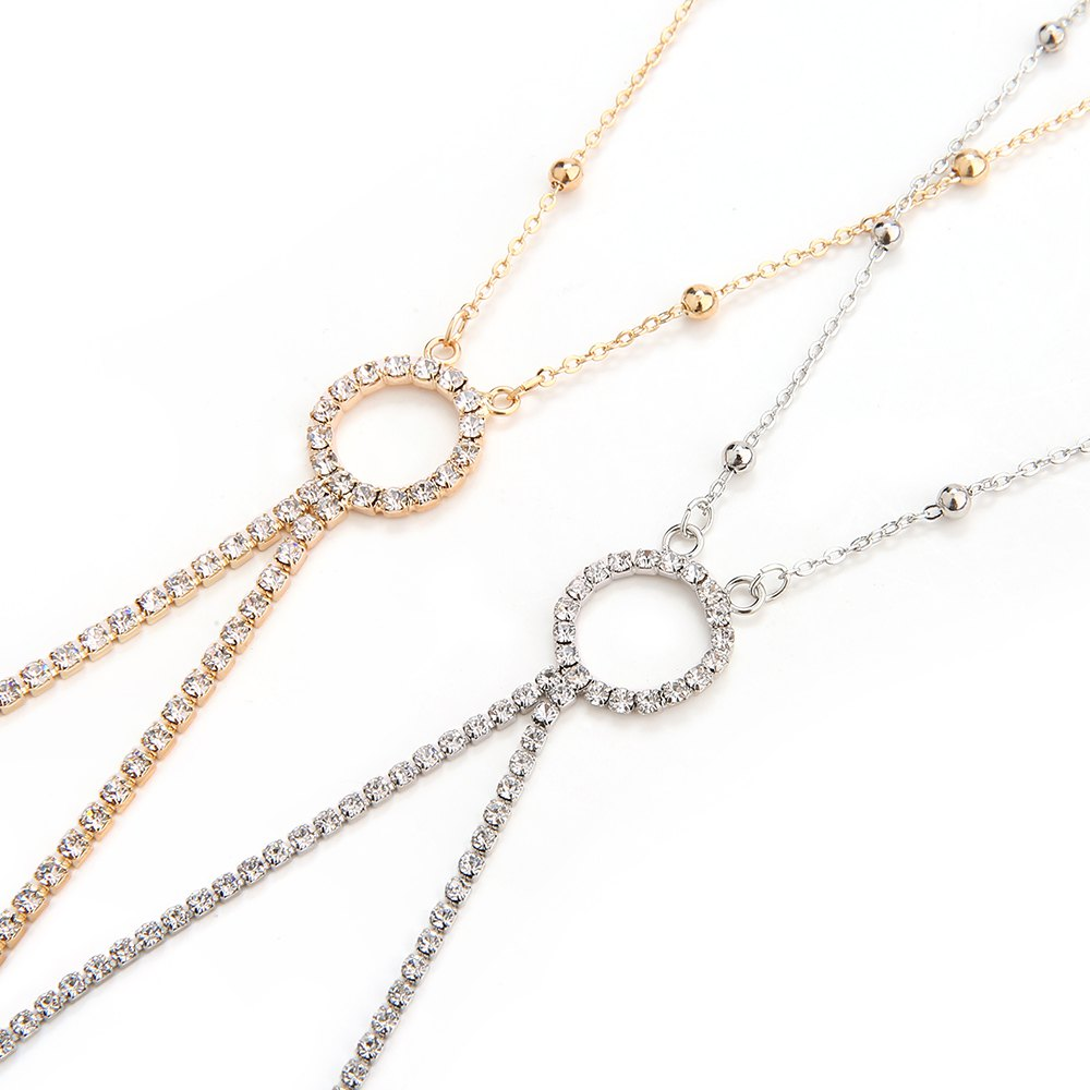 Europe and the United States fashion new diamond sexy body chain - GOLDEN