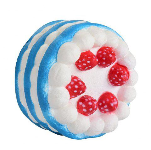 Stress Reliever Strawberry Cake Scented Super Slow Rising Kids Toy - BLUE