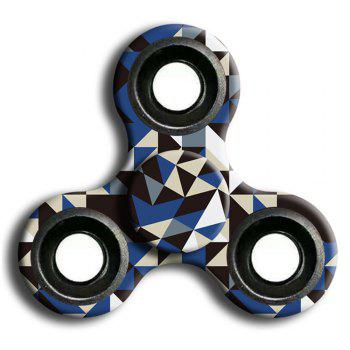 Interesting Stress Relief Toy Camouflage Finger Spinner - GRAY GRAY