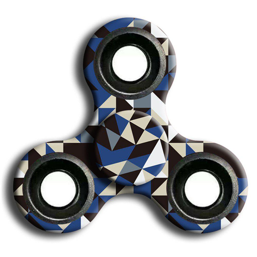 Interesting Stress Relief Toy Camouflage Finger Spinner - GRAY