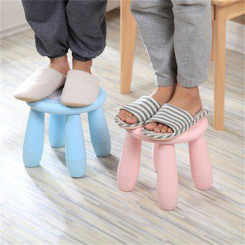 Children stool baby plastic assembly stool lovely kindergarten stool cartoon plastic stool non-slip -  BLUE