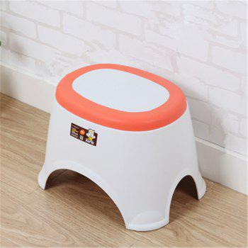 The Bathroom on The Bench Plastic  Receive A Stool Baby Footstool Leisure  Tables and Chairs 2pcs - ORANGE ORANGE