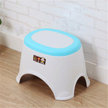 The Bathroom on The Bench Plastic  Receive A Stool Baby Footstool Leisure  Tables and Chairs 2pcs - BLUE BLUE