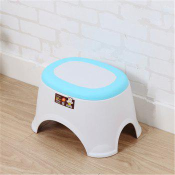 The Bathroom on The Bench Plastic  Receive A Stool Baby Footstool Leisure  Tables and Chairs 2pcs - BLUE 2PCS