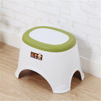 The Bathroom on The Bench Plastic  Receive A Stool Baby Footstool Leisure  Tables and Chairs 2pcs - GREEN 2PCS