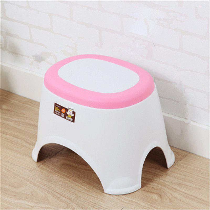 The Bathroom on The Bench Plastic  Receive A Stool Baby Footstool Leisure  Tables and Chairs 2pcs - PINK 2PCS