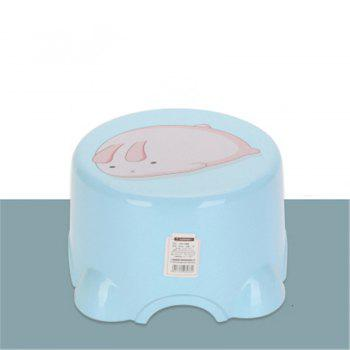 Table Stool Plastic Stool The Bathroom Stool In Shoes Stool The Chair Sofa - BLUE 2PCS