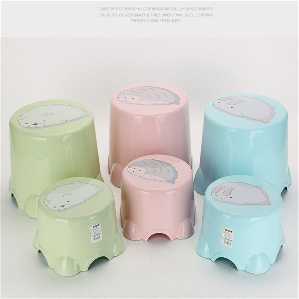 Table Stool Plastic Stool The Bathroom Stool In Shoes Stool The Chair Sofa - PINK 2PCS