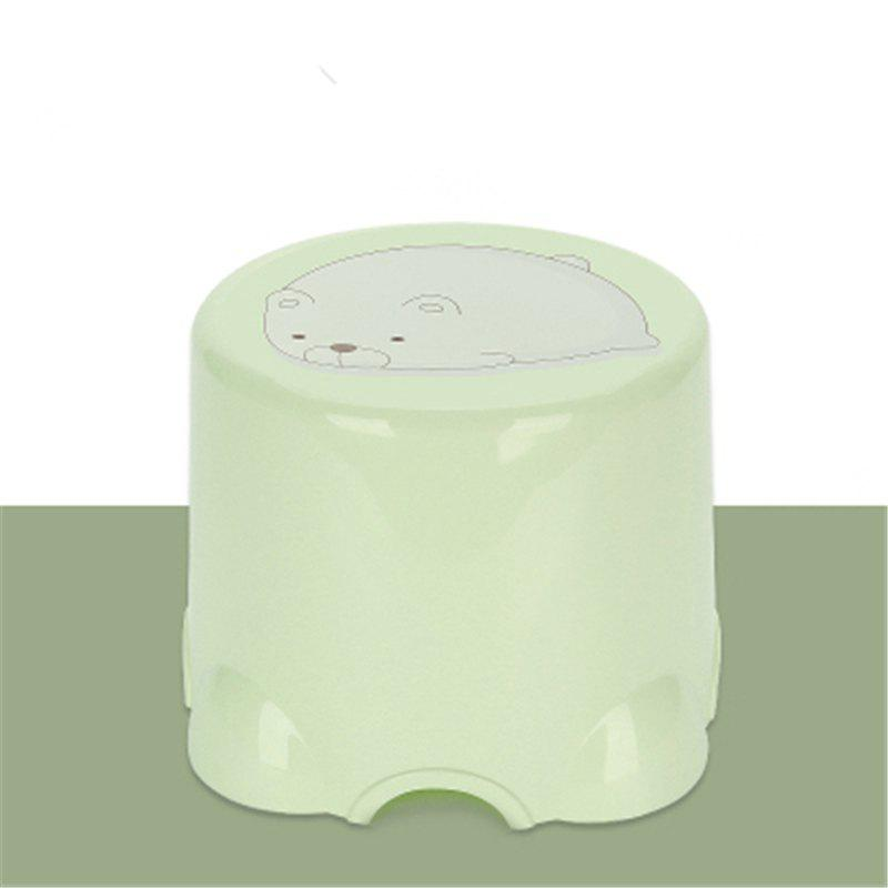 Table Stool Plastic Stool The Bathroom Stool In Shoes Stool The Chair Sofa - GREEN 2PCS