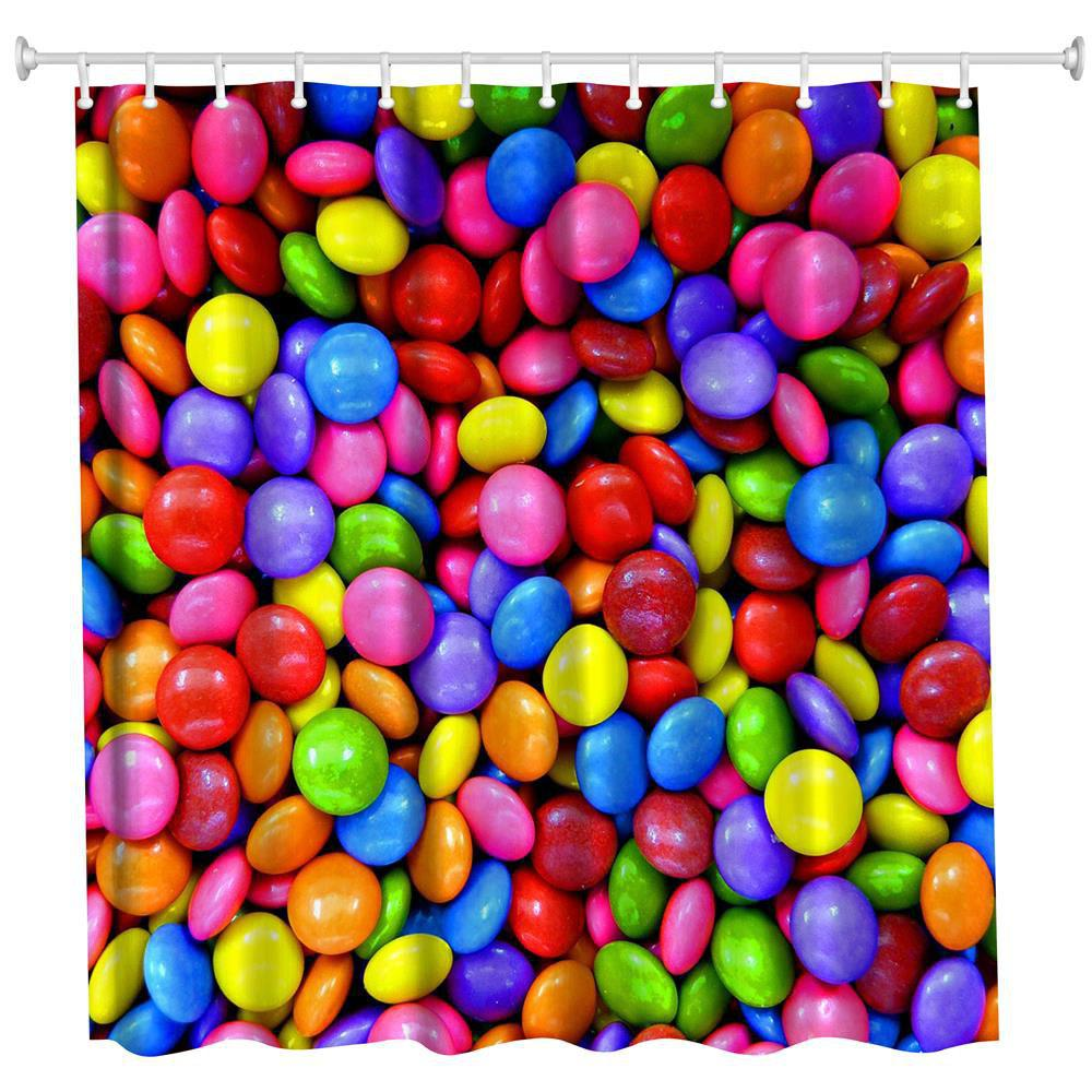 Rainbow Bean Polyester Shower Curtain Bathroom Curtain High Definition 3D Printing Water-Proof the crow in haunted house polyester shower curtain bathroom curtain high definition 3d printing water proof