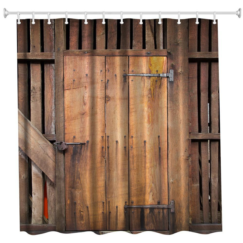 The Barn Doors Polyester Shower Curtain Bathroom Curtain High Definition 3D Printing Water-Proof the crow in haunted house polyester shower curtain bathroom curtain high definition 3d printing water proof