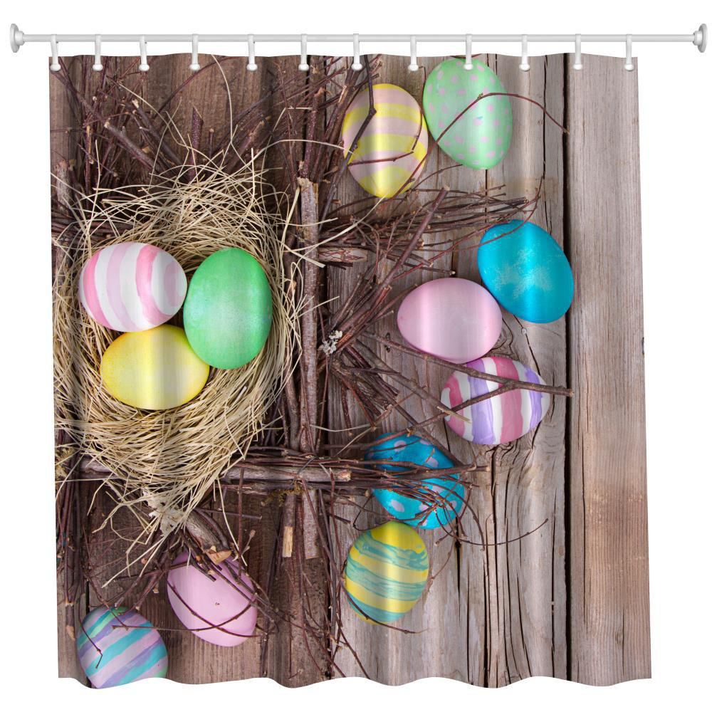Nest Egg Polyester Shower Curtain Bathroom Curtain High Definition 3D Printing Water-Proof the crow in haunted house polyester shower curtain bathroom curtain high definition 3d printing water proof