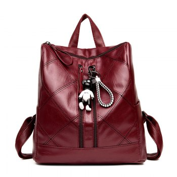 Wild Soft Leather Personality Student Bag Backpack