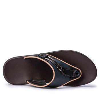 Men Sandals Summer Outdoor Beach Fashion Flip Flops Men High Quality Casual Men'S Slippers - BLACK 41