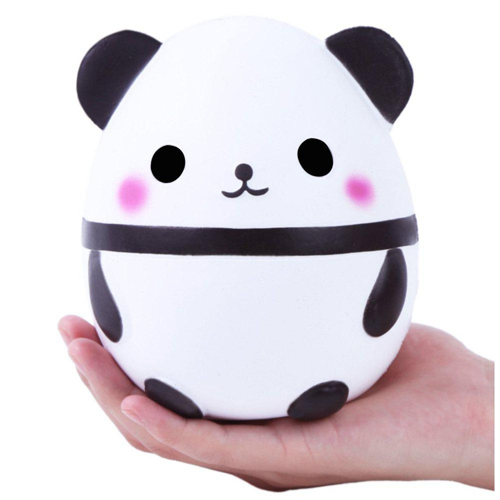 Cute Squishy Slowing Rising Simulation Panda Egg Soft Scented Squeezed Decompression Toys - WHITE