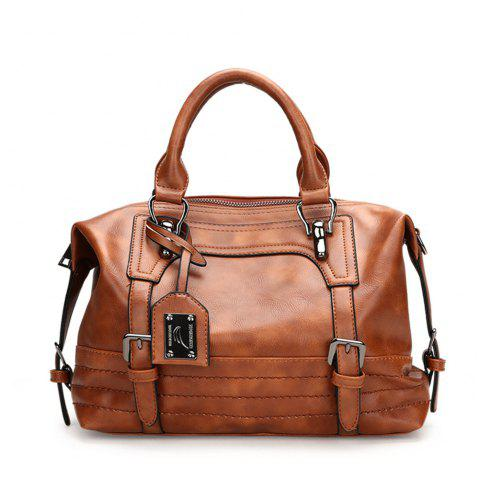 Fashion Boston Women'S Bag Inclined Shoulder Bag - BROWN HORIZONTAL
