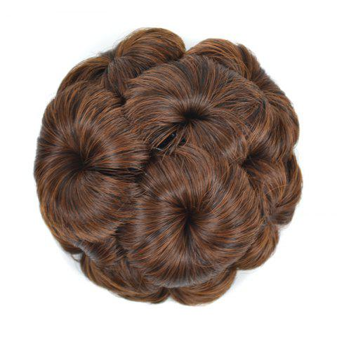 Top Quality Westerners Chignon Big Hair Bun Hair New Style Women Curly Combs Clip In Hair Bun Chignon Updo Cover Hair - LIGHT BROWN