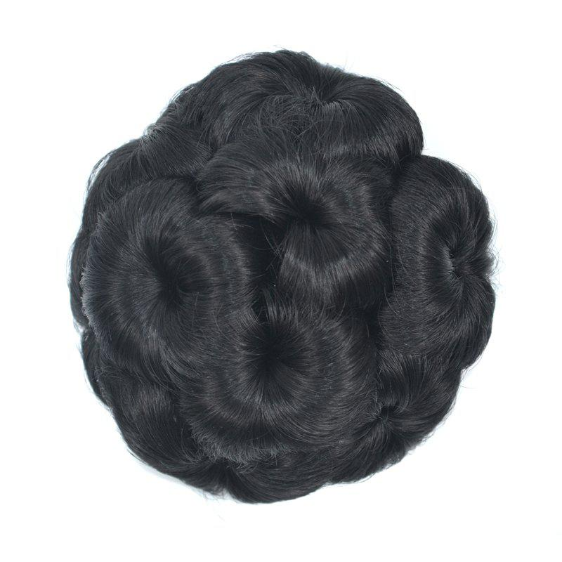 Top Quality Westerners Chignon Big Hair Bun Hair New Style Women Curly Combs Clip In Hair Bun Chignon Updo Cover Hair - BLACKS