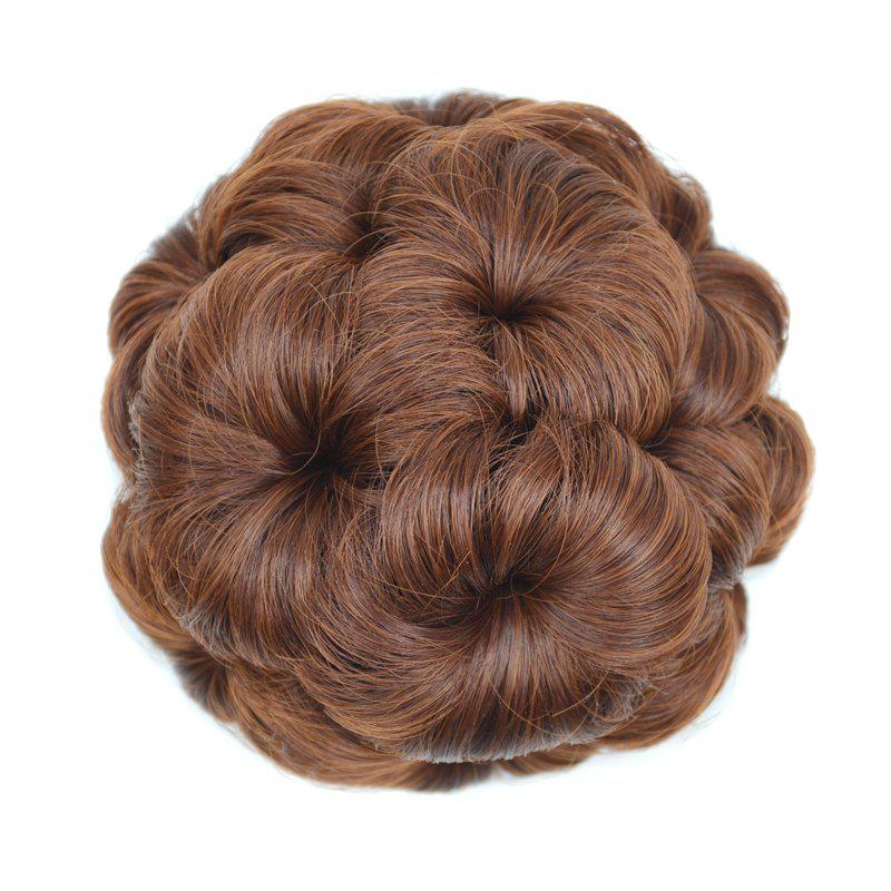 Top Quality Westerners Chignon Big Hair Bun Hair New Style Women Curly Combs Clip In Hair Bun Chignon Updo Cover Hair - FLAX