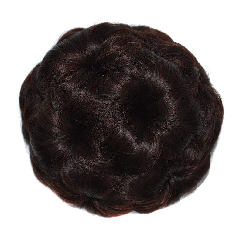 Top Quality Westerners Chignon Big Hair Bun Hair New Style Women Curly Combs Clip In Hair Bun Chignon Updo Cover Hair - DEEP BROWN